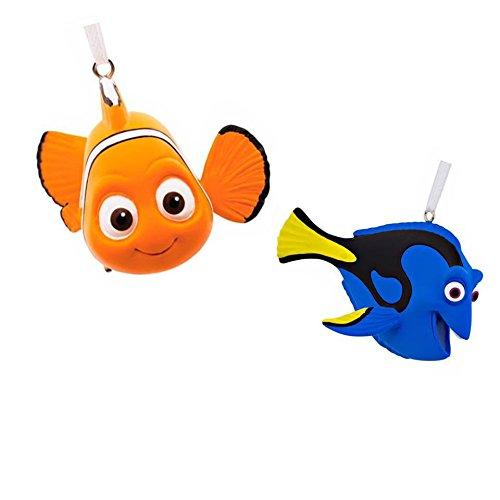 Hallmark Disney Pixar Finding Dory Christmas Ornament Bundle, Nemo & Dory
