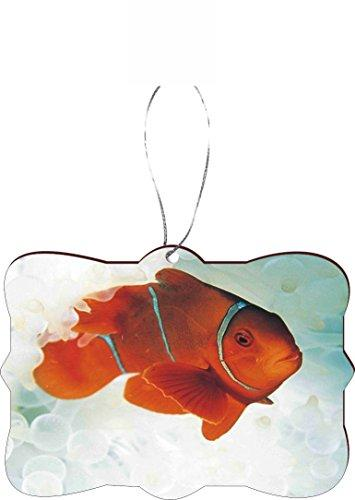 Rikki Knight RKWS-SQORN-256 Orange Nemo Fish Car Rear View Mirror Hanger Christmas Tree Ornament