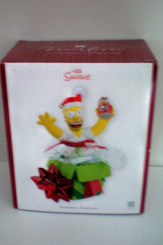 Homer Simpson of The Simpsons Christmas Tree Holiday Ornament Ornement -- NEW IN BOX