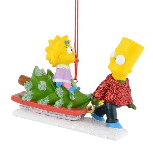 Department 56 Simpsons Giftware Bringing Home the Tree Ornament, 3 inch