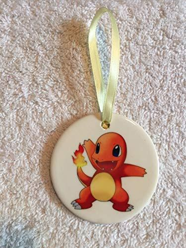 Pokemon Charmander Christmas Ornament ~ Pokemon Go ~ Porcelain ~ Orange ~ Tree Decor