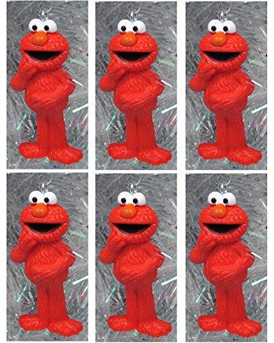 Sesame Street Muppet Ornament Set Featuring 6 ELMO Christmas Tree Ornaments