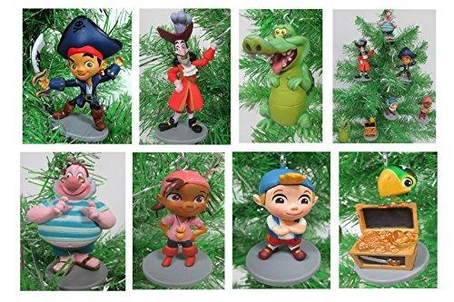 "Jake and the Neverland Pirates Christmas Tree Ornament Set - 2"" to 4.5"" Plastic Shatterproof Ornaments"