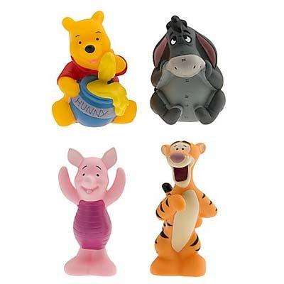 Disney Set of 4 Winnie the Pooh Character Squeeze Toys Including Tigger Eeyore Piglet and Pooh