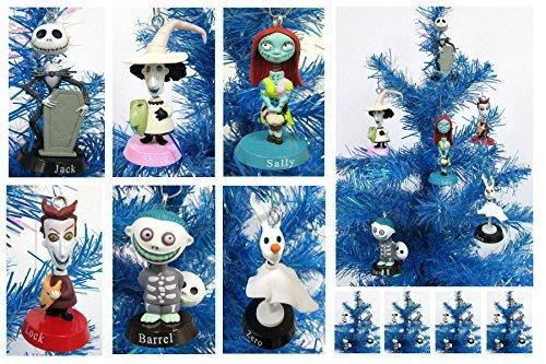 Nightmare Before Christmas Bobble Head Holiday Christmas Ornament Set - Unique Shatterproof Plastic Design by Holiday Ornaments