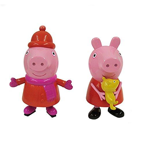 "Kurt Adler 3.5-4"" Peppa Pig Blow Mold Christmas Ornament 2 Assorted"