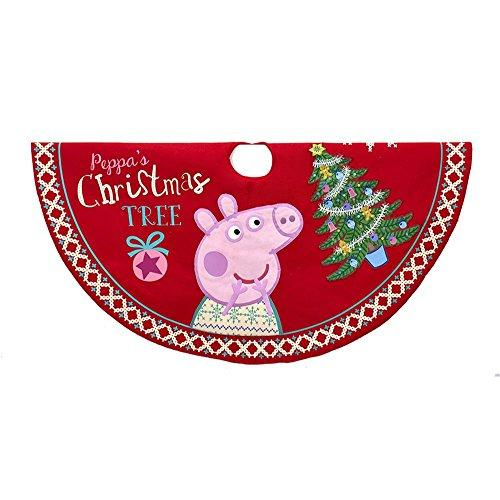 "Kurt Adler Peppa Pig 48"" Printed Tree Skirt Standard"