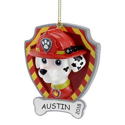 DIBSIES Personalization Station Personalized Paw Patrol Kids Christmas Ornament (Marshall)