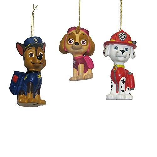 Kurt Adler Paw Patrol Blow Mold Ornament (Set of 3), 3 to 3.5""