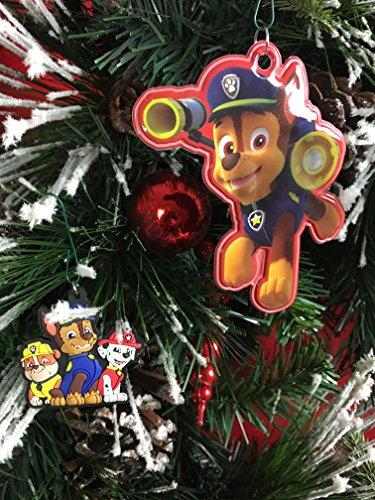 Paw Patrol Christmas Tree Ornaments-- 2 Pieces