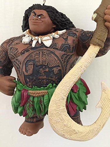 "Disney Moana Maui Demigod Holiday Christmas Tree Ornament PVC Figure 4.5"" Figurine"