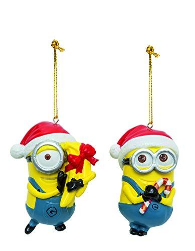 Kurt Adler Despicable Me Dave and Carl Christmas Ornaments 2 Assorted
