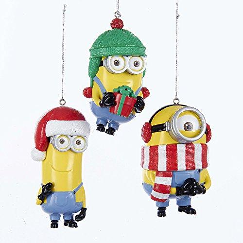 Kurt Adler Despicable Me Dave, Tim, and Stuart Christmas Ornaments 3 Assorted
