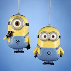 Despicable Me Dave and Carl Minions Christmas Ornament Set of 2