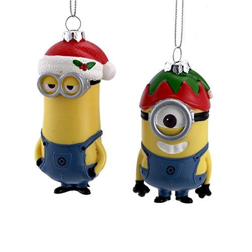 Despicable Me Assorted Injection Mold Dave and Carl Minion Ornaments, (1-pack)