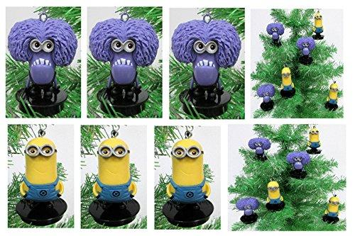 Despicable Me Minions Holiday Christmas Tree Ornament Set - Unique Shatterproof Plastic Design