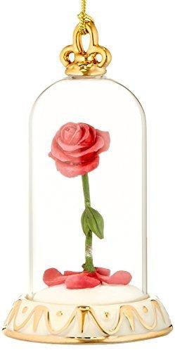 Lenox Beauty and The Beast Rose Ornament (859519)