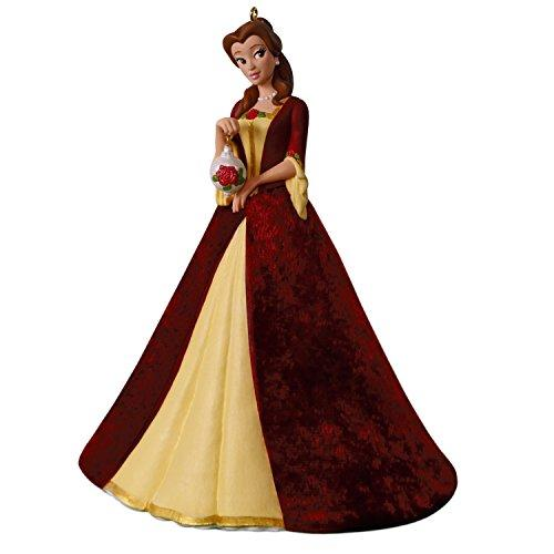 Hallmark Keepsake Christmas Ornament 2018 Year Dated, Disney Beauty and The Beast Christmas Belle, Porcelain