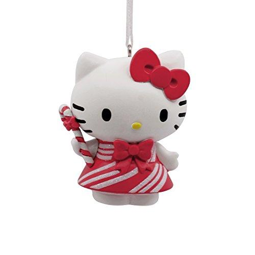 Hallmark Christmas Ornament Sanrio Hello Kitty in Peppermint Dress