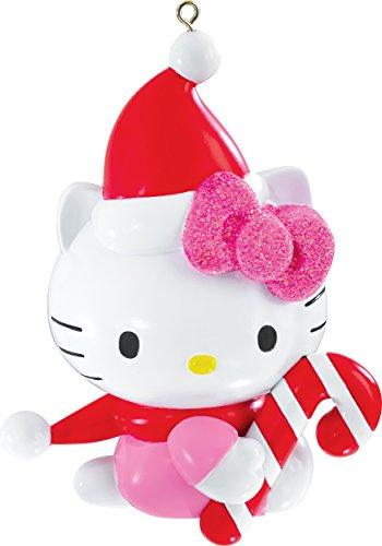 2015 Hello Kitty with Candy Cane Carlton Ornament