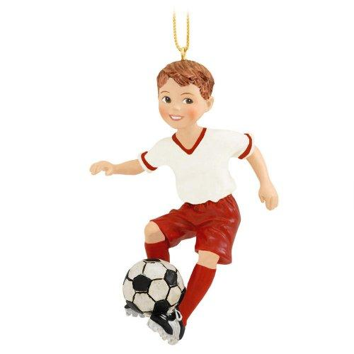 Kurt Adler Soccer Boy Christmas Ornament
