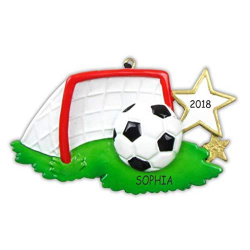DIBSIES Personalization Station Personalized Soccer Sports Christmas Ornament