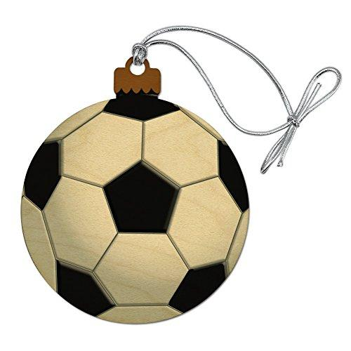 Graphics and More Soccer Ball Football Wood Christmas Tree Holiday Ornament