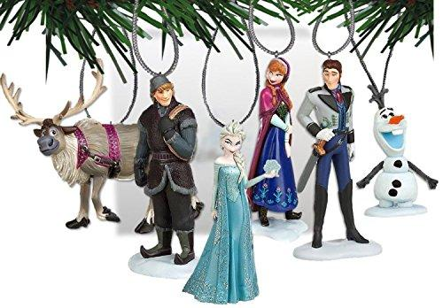 Disneys Frozen Holiday Ornament Set- (6) PVC Figure Ornaments Included - Limited Availability