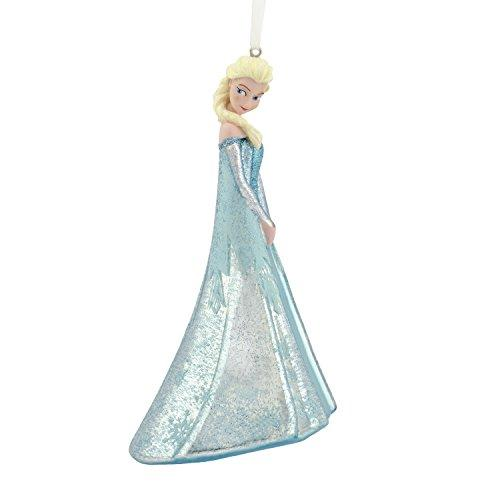 Hallmark Christmas Ornament Disney Frozen Elsa Blown Glass Figure, Blue Dress