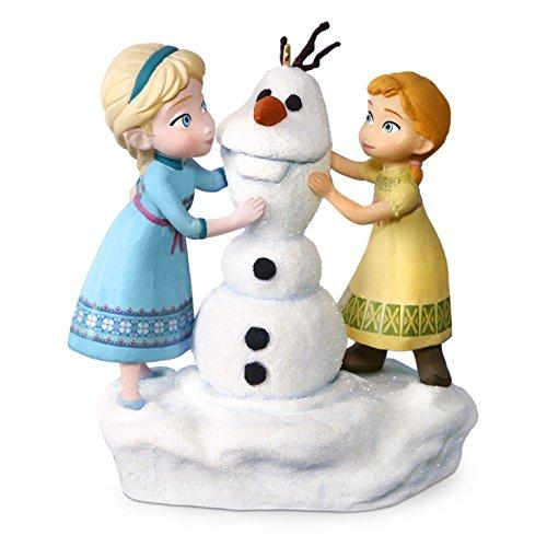 Hallmark Keepsake Disney Frozen Anna and Elsa Build a Snowman Musical Ornament - Blue, White