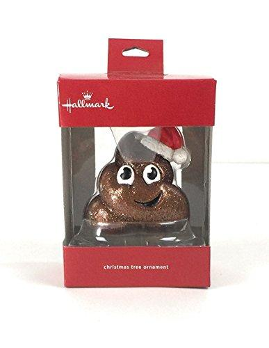 Hallmark Poop Emoji Christmas Tree Ornament Santa Hat
