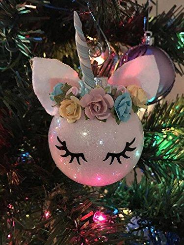 Unicorn ornament- Christmas ornament - tree ornament - Christmas unicorn - Christmas decoration- unicorn tree ornament- ornament- unicorn