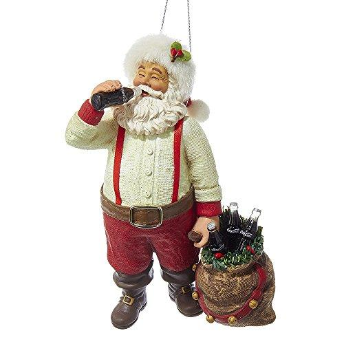 Kurt Adler CC9162 Santa Drinking Coke Ornament, 5.5""