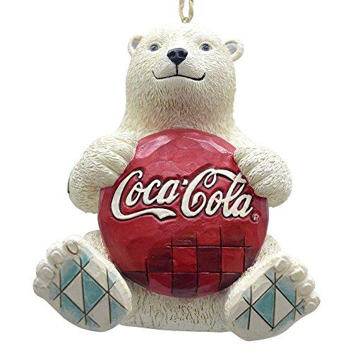 Enesco Coca-Cola by Jim Shore 4059722 Coke Polar Bear with Coke Logo Hanging Ornament