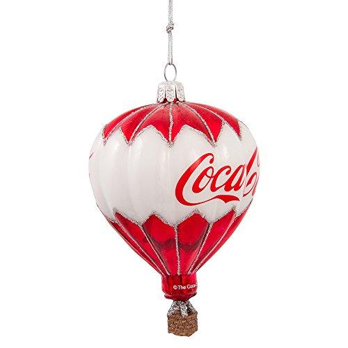 Kurt Adler Coca-Cola Glass Balloon Ornament, 3.5-Inch