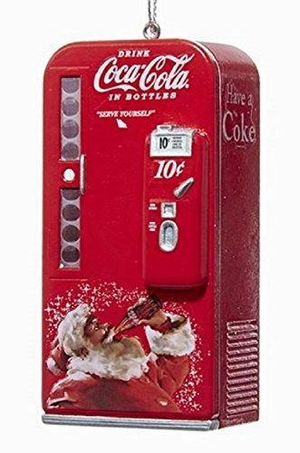 Kurt Adler Coca-Cola Vending Machine with Santa Ornament #CC1162