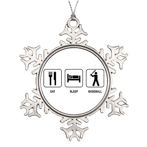 Color-F Beisbol Symbol Tree Branch Decoration Snowflake Ornaments Online