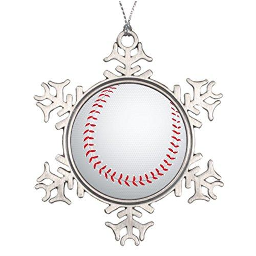 Xixitly Tree Branch Decoration Baseball Beisbol Sports Christmas Snowflake Ornaments