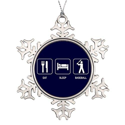 Color-F Symbol Beisbol Best Friend Snowflake Ornaments Vintage Christmas Tree Decorations