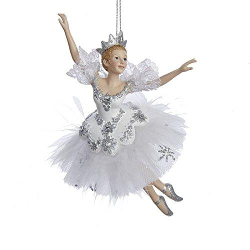 "Kurt Adler 6.75"" Snow Queen Ballerina Christmas Ornament"