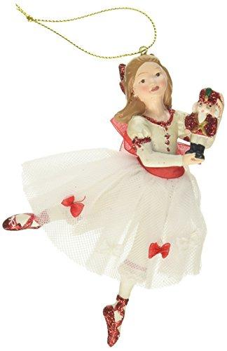 Kurt Adler 5-1/2-Inch Resin Clara Nutcracker Suite Ornament