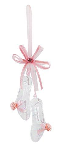 Caffco Rosy Pink Ballet Shoes Hanging Christmas Ornament