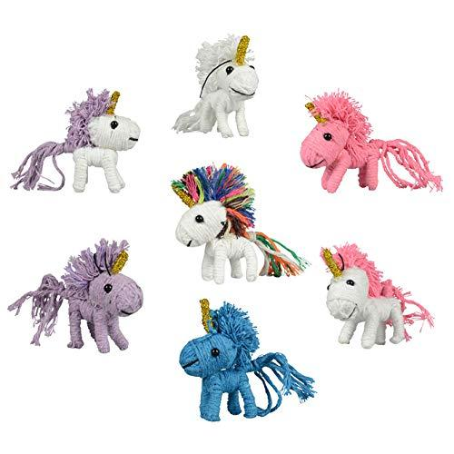 Unicorn Party Favor String Dolls Set Girls Birthday Treat Goody Bag Decoration Ornaments