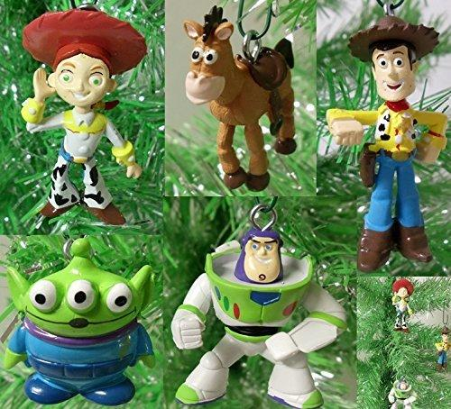 "Toy Story 5 Piece Holiday Christmas Tree Ornament Set Featuring Woody, Jessie, Buzz Lightyear, Bullseye, and Alien 2"" to 4"" Ornaments"