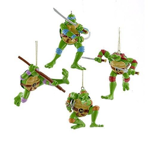 Kurt Adler Retro Ninja Turtles Ornament Set