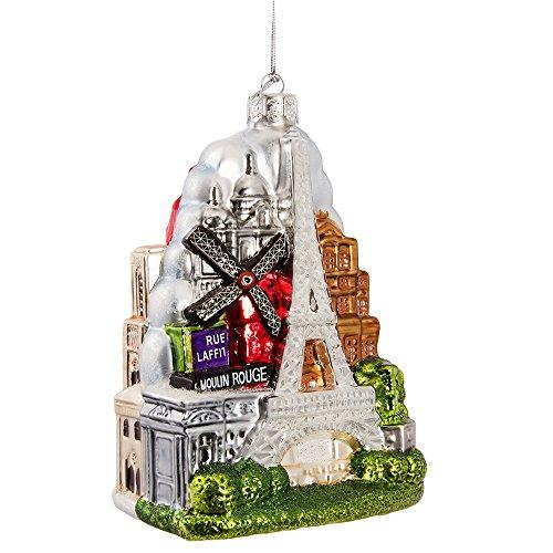 Kurt Adler 5-Inch Glass Paris City Ornament