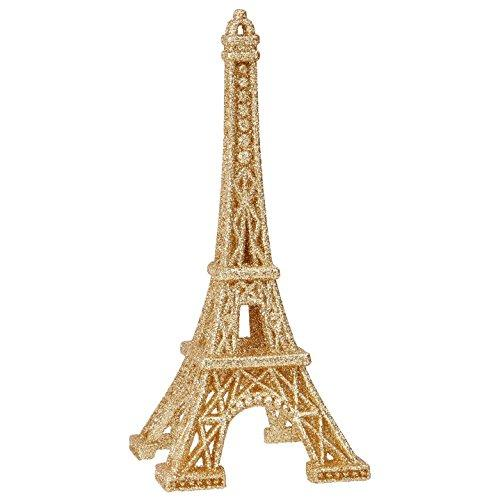 RAZ Imports - 6 Inch Eiffel Tower Figurine Christmas Tree Ornament (Gold)