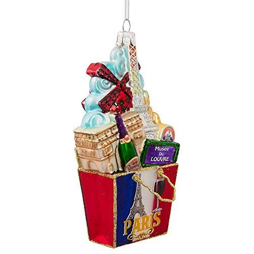 Kurt Adler C7570 Paris Bag Glass Ornament