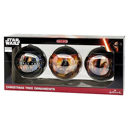 Star Wars The Force Awakens Christmas Tree Ornaments Hallmark Disney 3 Pack