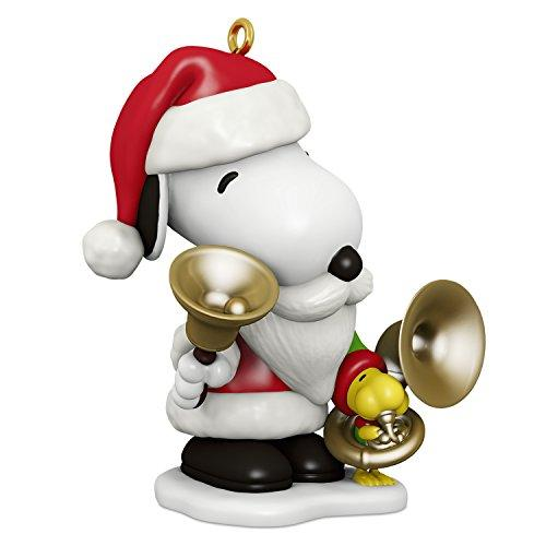 Hallmark Keepsake Christmas Ornament 2018 Year Dated, Peanuts Spotlight on Snoopy Bell-Ringer Snoopy